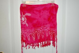 Unbranded Swimsuit Cover Up Wrap Skirt Pink with Turtles - $8.90
