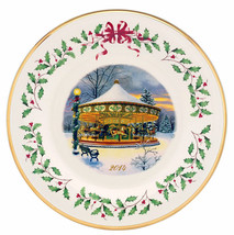 Lenox Holiday Annual Collector Plate 2014 Carousel Limited $120 New - $38.90