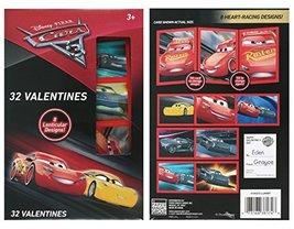 Disney Cars 3 Lenticular Valentine Cards 32 Count - $12.86
