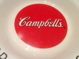 9 CAMPBELL SOUP BOWLS ARCOPAL FRANCE GOOD FOR THE BODY GOOD FOR THE SOUL NICE image 5