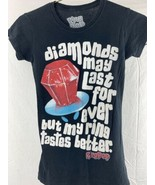Ring Pop Diamonds May Last Forever My Ring Tastes Better Womens T-Shirt ... - $12.86