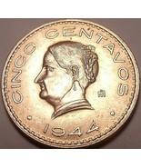 Grande Raro Gem UNC México 1944 UNC 5 Moneda ~ Excelente - $6.44
