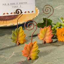 1 Leaf Design Fall Autumn Themed Place Card Holder Wedding Reception Fav... - $6.98