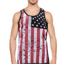 Men's USA American Flag Sleeveless Shirt Summer Beach Patriotic Tank Top image 11