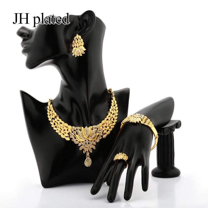 Primary image for Exquisite Luxury Dubai Jewelry sets of gold color India Nigeria African Big Jewe