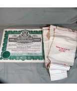 Garman Tool & Die Co., Detroit, MI, 1953 Stock Certificate, plus 5 Cloth... - $12.20