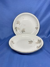 Vintage Seltmann Weiden Bavaria 2 Cream Soup Bowl Leaf and Wine Print - $19.99