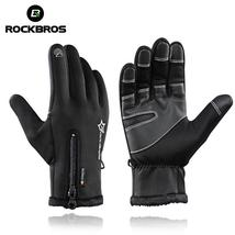 ROCKBROS Bike Gloves Winter Thermal Windproof Warm Full Finger Cycling G... - $30.46 CAD