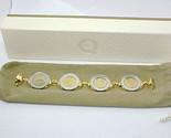 "MILOR Italian Bronze 500 Lire Coin Jewelry BRACELET - magnetic closure - 6.75 """