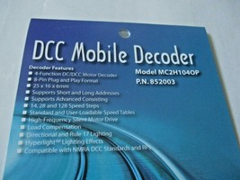 Soundtraxx 852003 MC2H104OP DCC Mobile Decoder 8 Pin Plug 4 Function image 2