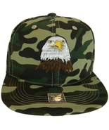 USA Men's Patriotic Eagle & Side Flag Adjustable Snapback Baseball Cap M... - $13.95