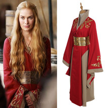 Costume Queen Cersei Lannister Red Luxury Dress Game Of Thrones Cosplay ... - $45.99