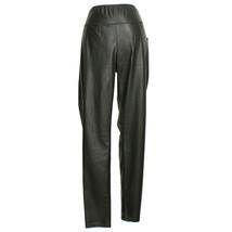 RALPH LAUREN Black Faux Leather Yoked Waist Leggings Pull-on Pants 20W - $69.99