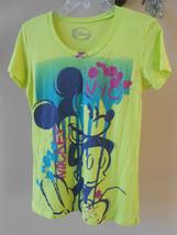 Disney Mickey Mouse NYC Bright Green Paint Splash Splatter Design Womens... - $14.70