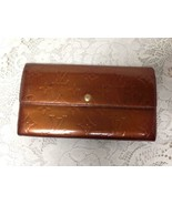 Authentic Louis Vuitton Gold Patent Leather Bifold Long Wallet 7.5in x 4... - $185.20