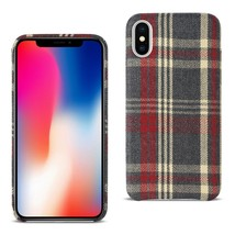 Reiko iPhone X Checked Fabric In Red - $9.03