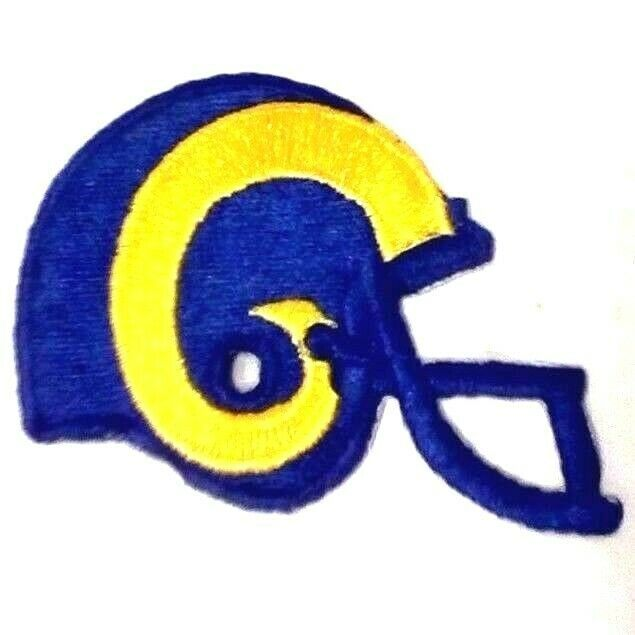 "Primary image for Retro Los Angeles Rams 2 1/4"" Helmet Logo Iron-On Patch NFL 1983-1988"