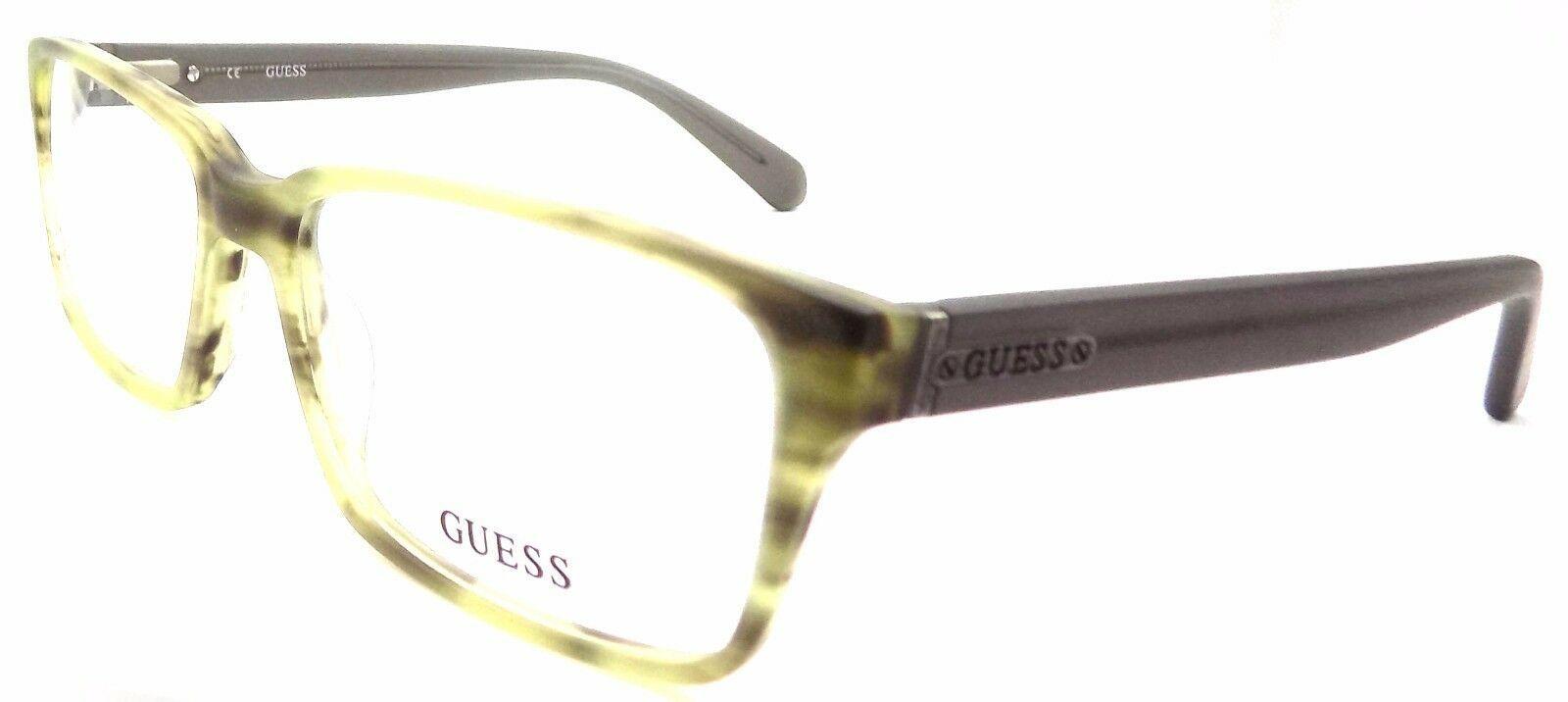 GUESS GU1843 GRN Men's Eyeglasses Frames 55-17-145 Matte Green + Case