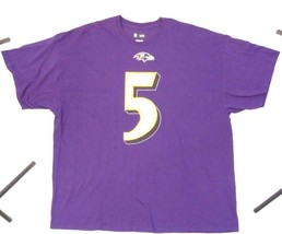BALTIMORE RAVENS PURPLE JOE FALCO #5 NFL TEAM APPAREL 2XL T SHIRT - $24.75