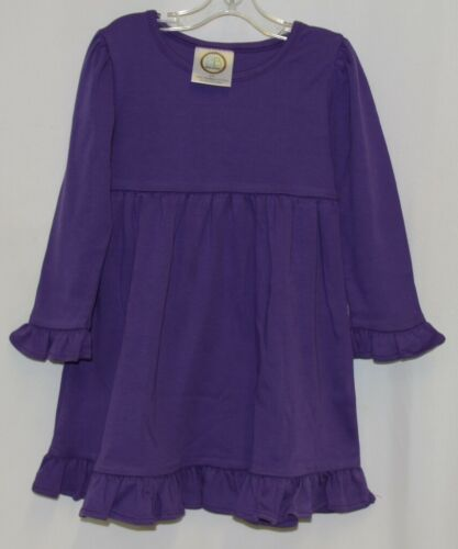 Blanks Boutique Purple Long Sleeve Empire Waist Ruffle Dress Size 2T