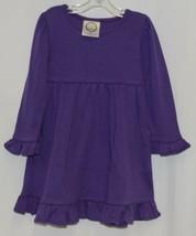 Blanks Boutique Purple Long Sleeve Empire Waist Ruffle Dress Size 2T image 1