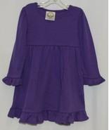 Blanks Boutique Purple Long Sleeve Empire Waist Ruffle Dress Size 2T - $32.00