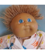 """Cabbage Patch Kids 16"""",  baby doll lt brown hair blue eyes homemade body - $22.28"""