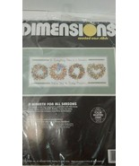 Dimensions Counted Cross Stitch INSTRUCTIONS Floss 3709 A Wreath For All... - $5.96