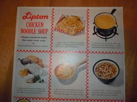Vintage Lipton Chicken Noodle Soup Print Magazine Advertisement 1961 image 2