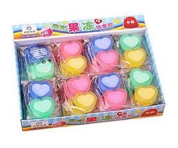 Luminous Jelly Erasers, Cute Award Gift, 2 Count Per Pack, 36 Pack, Hear... - $18.98