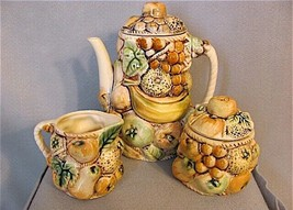 Tilso Japan Porcelain Coffee Service Shaped Like Bunches Of Fruit Mid-Ce... - $34.16