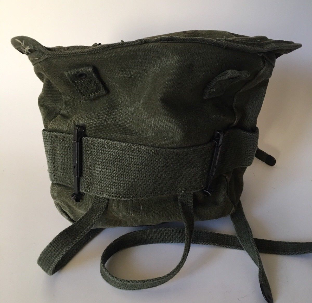 8d274b5447 Vintage Field Pack Canvas Bag US Army Military Olive Green Backpack