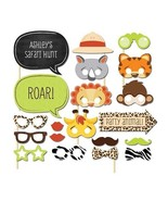 New arrivalset of 20 fun safari jungle animal photo booth props on a stick baby shower thumbtall