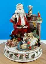 Christmas Santa Claus Porcelain Holiday Decor Collectibles Classic Vinta... - $35.44