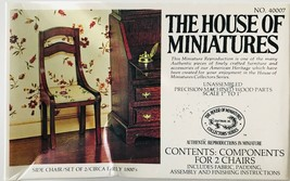 House of Miniatures Chippendale 2 Side Chairs Circa 1800 Kit #40007 Unassembled - $14.50