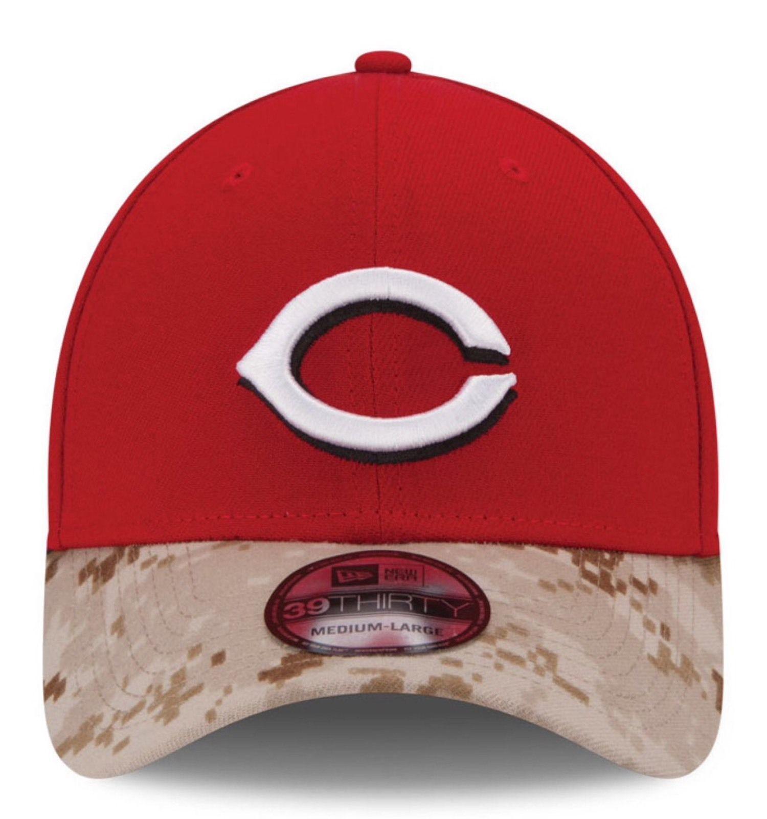 31d3b2e9284 Cincinnati Reds New Era 39Thirty Memorial Day Flexfit Fitted M L Cap Hat