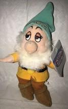 DISNEY STORE Plush BASHFUL Beanie Snow White Seven Dwarfs Stuffed Doll T... - $19.79