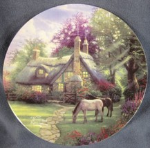 "Perfect Summer Day Plate Thomas Kinkade 9"" Maud Borup Cottage Horses  - $19.95"