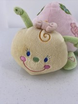 "Koala Baby Pink & Green Floral Ladybug Soft Plush Chime Rattle 10"" Baby Toy - $14.01"