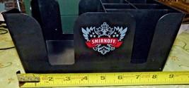 SMIRNOFF Napkin Straw Swizzle Stick Drink Coasters BAR CADDY Man Cave it... - $25.74