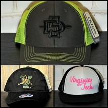 Reseller Lot of 4 NEW NCAA Hats San Diego Aztecs Catamounts Virginia Tec... - $14.70