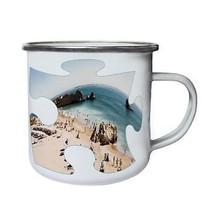 Puzzle Beach Image Dream Surf Gift Retro,Tin, Enamel 10oz Mug d881e - $13.13