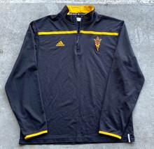Adidas Arizona State Sun Devils Men's Pullover Jacket Size Medium Black  - $17.82