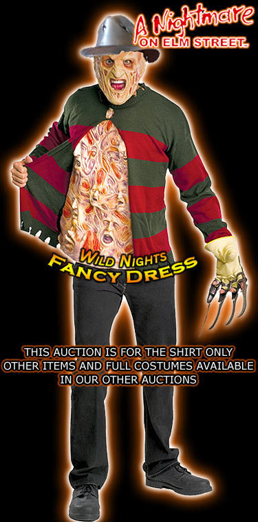 Nightmare On Elm Street Freddy Krueger Chest of Souls Adult  Sweater FREE Ship