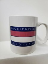 Jacksonville Florida Coffee Mug Red White Blue - $9.90