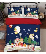 3D Christmas  Xmas 38 Bed Pillowcases Quilt Duvet Cover Set Single Queen... - $64.32+