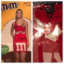 M&M's Red Candy Halloween Costume Tank Sleeveless Dress Rasta Imposta Fi... - $12.19