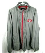 NFL Men's Size XL San Francisco 49ers Jacket Windbreaker Zip Front  - $34.65