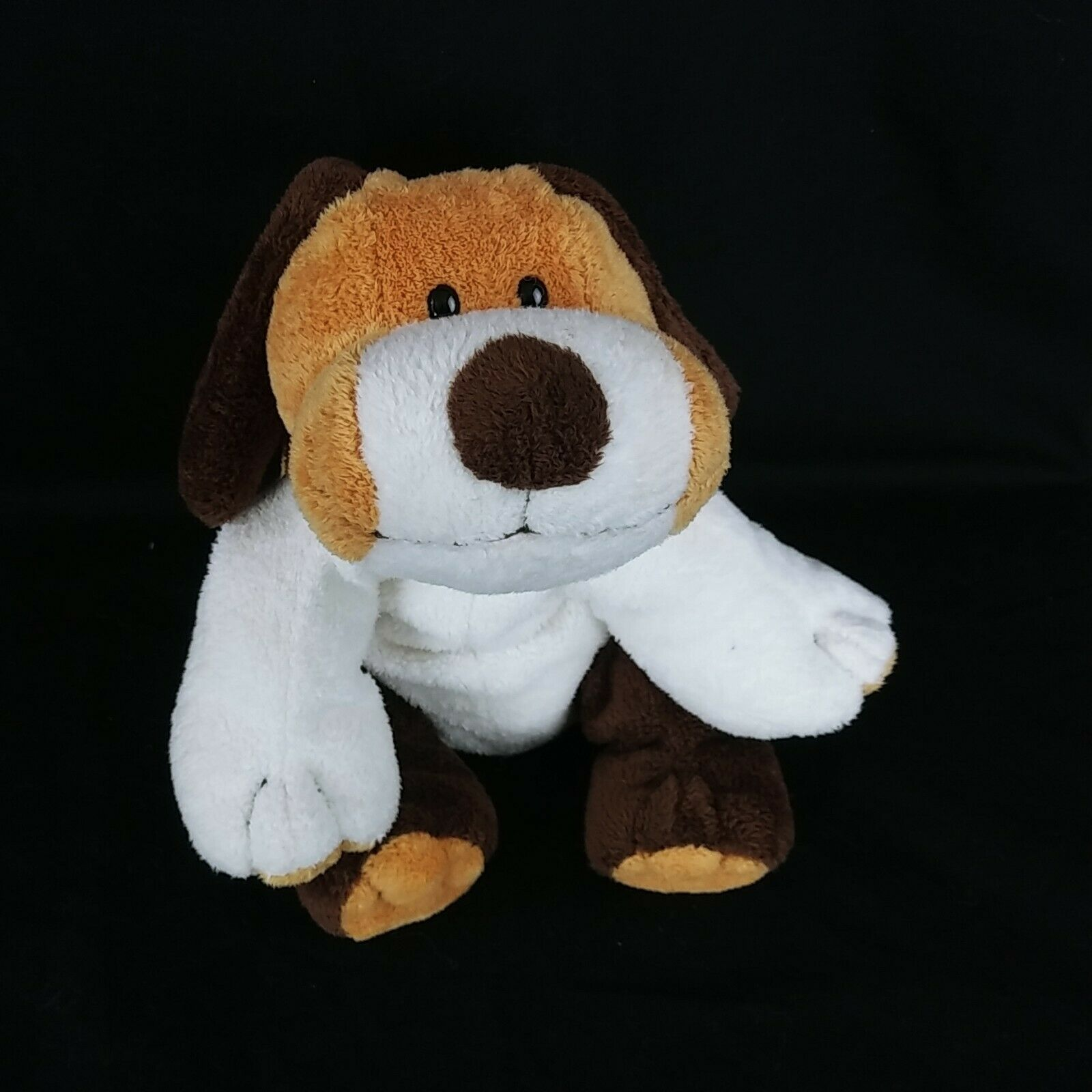 "Primary image for Ty Pluffies 2002 Whiffer Puppy Dog Brown White Plastic Eyes 10"" Plush Stuffed"