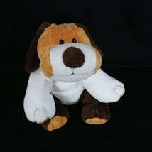 "Ty Pluffies 2002 Whiffer Puppy Dog Brown White Plastic Eyes 10"" Plush St... - $24.74"